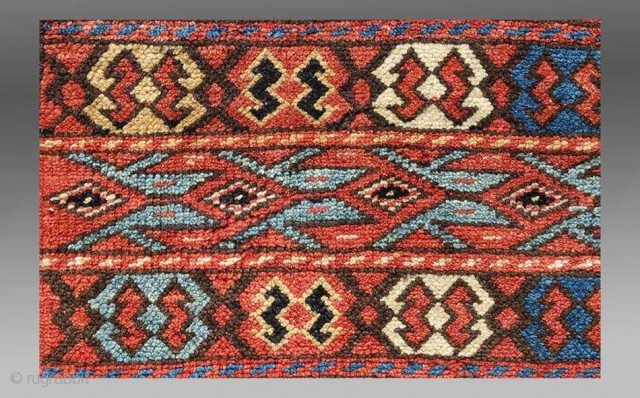 "Kurd Bag Face, NW Persia/S. Caucasus, 19th C., 1'10"" x 1'9""