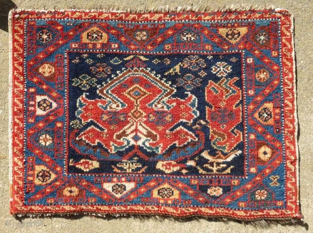 "Afshar Bag Face, S Persia, 1'10"" x 1'4""