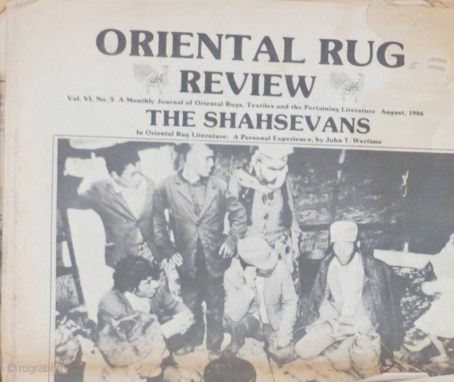 Old issues of Oriental Rug Review dating to 1984, 1985 and 1986... not complete but in reasonable condition.    If you're unfamiliar with this publication, it was one of the early rug  ...