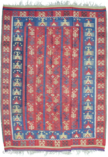From now on only highlights. Beutiful Thracian kilim with Tree of life design, splendid natural colors.