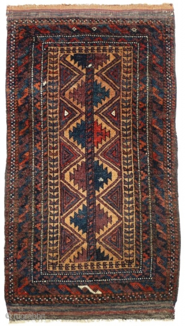 # 813 Baluch balisht front, 46/87 cm, Khorasan, East Persia, ca. 1900, good condition. For more offers of wonderful collector's pieces please visit our website:  www.oriental-textile-art.de