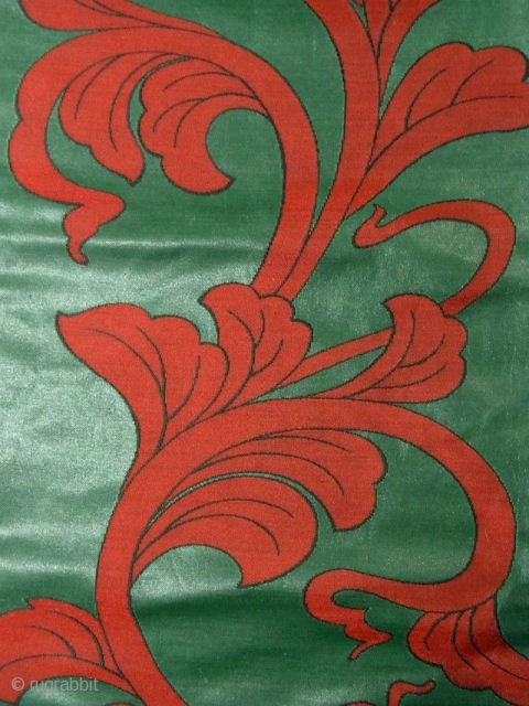 'Art Nouveau' silk urushi Obi, Japan, Showa (circa 1940), cm 353x31. The 'obi' is a sash for traditional Japanese dresses, and a part of kimono outfits. This one is a so-called 'nagoya  ...