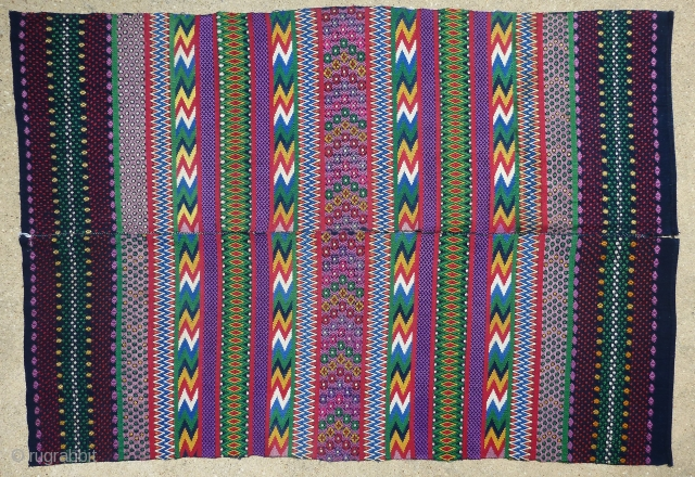 Beautiful vintage finely woven huipil from San Antonio Aguas Calientes, Sacatepequez, Guatemala. From a the collection of a well-known museum. Collector also known. All provenance will be given to the buyer only.  ...