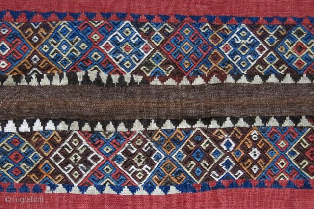 "Eastern Anatolia - Mt. Nemrut Kurdish Chuval, large size open bag for gereral use. Circa 1900 - size: 77"" X 44"" -- 195 cm X 100 cm"