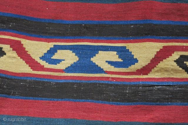 """Transaucaus shahsavan all wool kilim. Fairly in good condition.Circa late 19th size: 86"""" x 69"""" - 220 cm x 175 cm"""