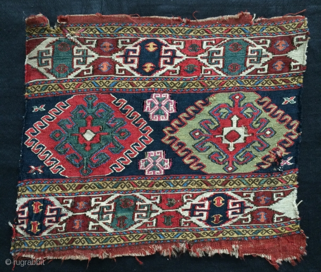 Shahsavan panel wefts silk size 43x53cm