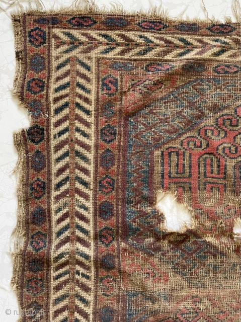 very old beluch fragmand carpet size 143x87cm