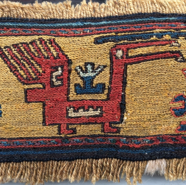 Shahsavan Fragmend wool and silk size 12x55cm
