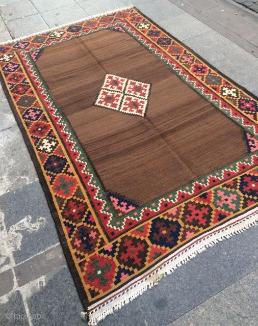 Bahtiyar kilim ground camel wool size 235x143cm