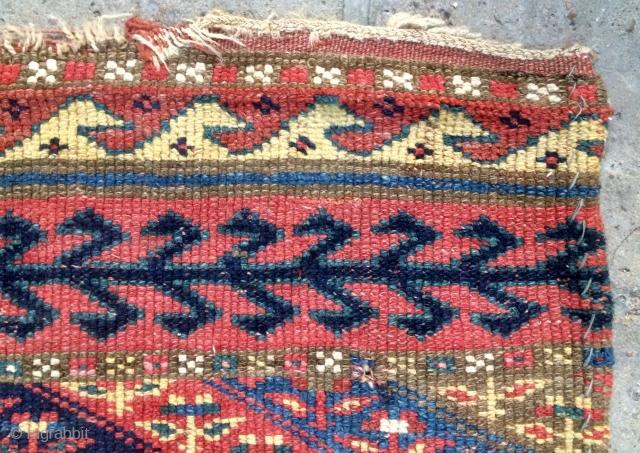 Shojbulahk Kurdish fragmand carpet size 250x95cm