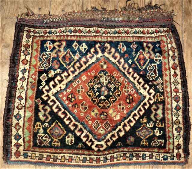 antique Quachgai southpersian front of a bag. Size: 51 x 62 cm.