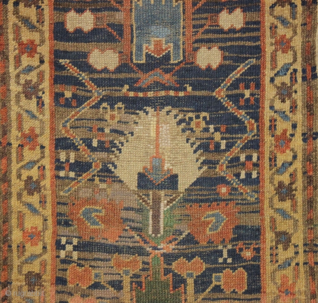Early Northwest Persian Or Kurdish Rug Strange And