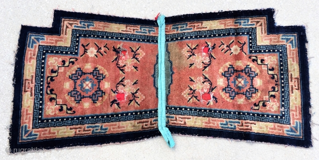 "Chinese Under Saddle Rug, 54"" x 24"" Collected in Tibet in 2001"