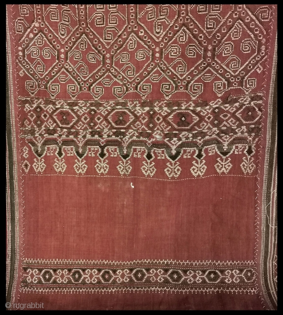 Fabulous Pua Kumbu with Sunkgit weaving. The use is just as interesting as the craft & the art! 1800s, Iban textile, Borneo.  https://wovensouls.com/collections/recent-additions