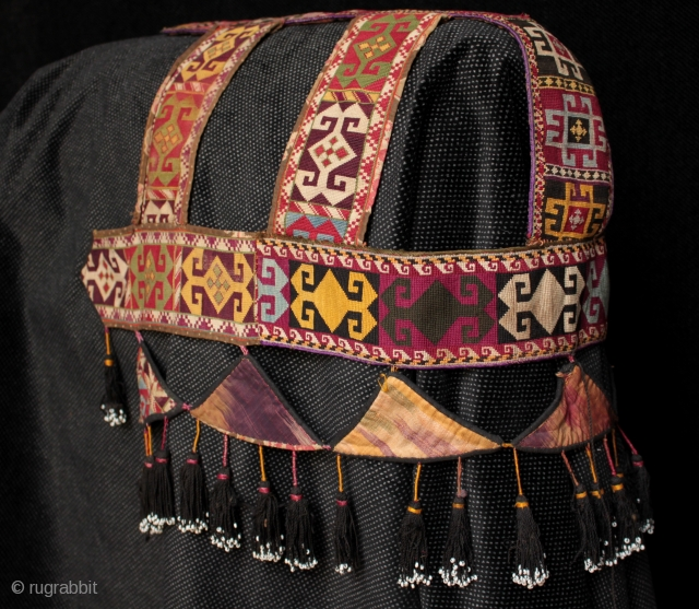 Rare Uzbek Lakai tribe camel headdress.