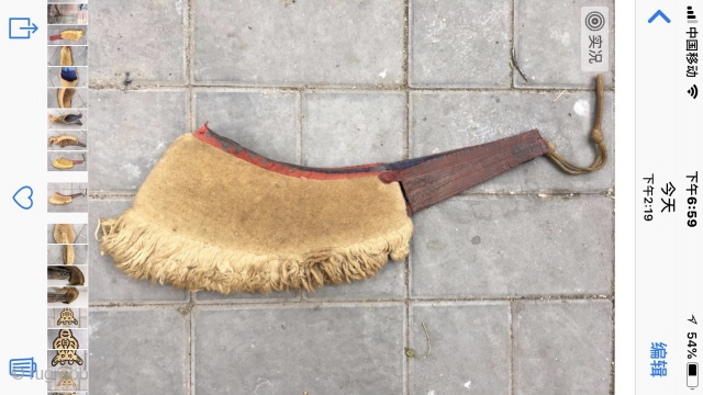 Tibetan lama hat, very rare one, yellow color, good age and condition.