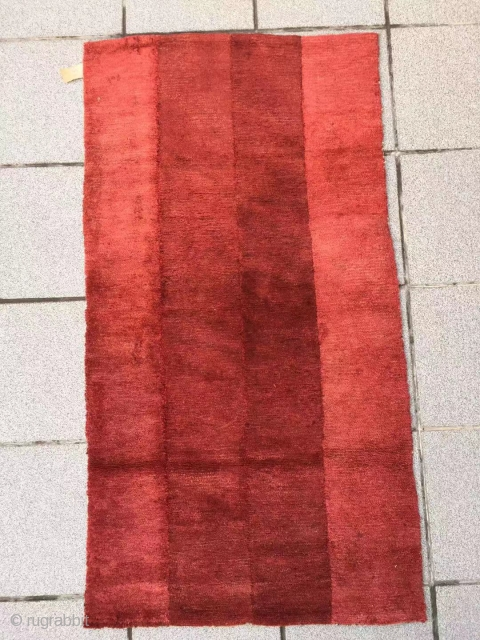 "Tibet rug, very nice red color , good age and condition. Size 125*70cm(49*27"")"