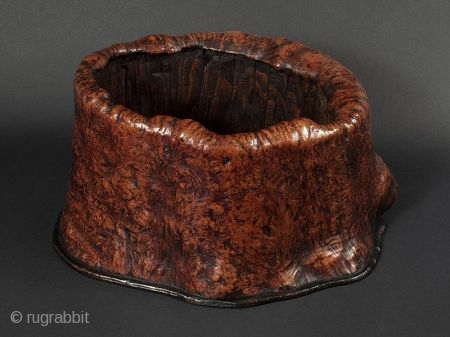 Japanese Antique Burl Hand Warmer  Japanese antique burl hand warmer, typically used in the tea ceremony where each participant would have their own charcoal heater. Nowadays, this container (hibachi) can be used to  ...