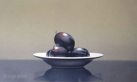Lithograph Print by Guy Diehl - Still Life with Italian Plums American artist Guy Diehl, born in 1949 in Pennsylvania, is most famously known for his still life paintings and prints. Diehl's family  ...