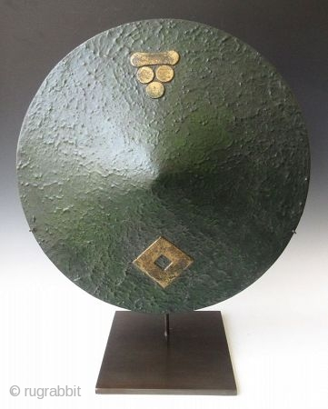Japanese Edo Green Lacquer Mori Clan Jingasa