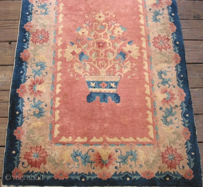 Art Deco Rug In Runner Size 3ftx8ft 10in Hand Knotted