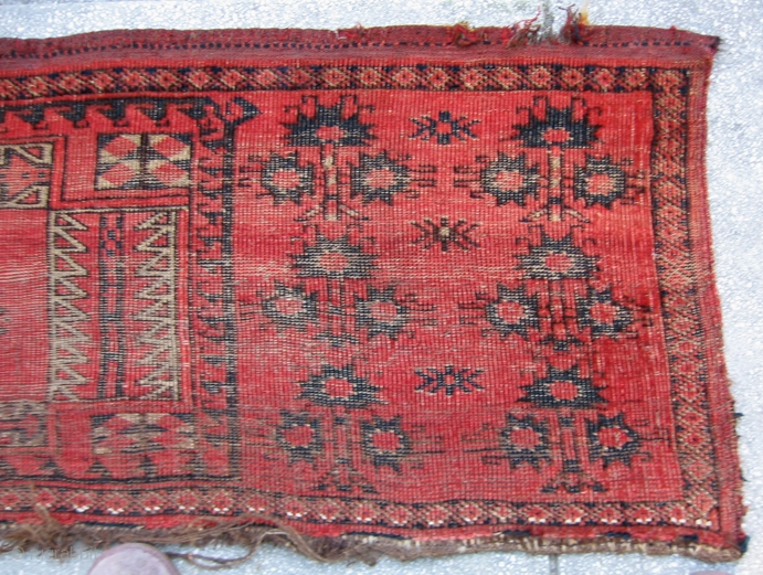 Ersari Beshir Large Torba Face Cca 1875 Wool On Animal