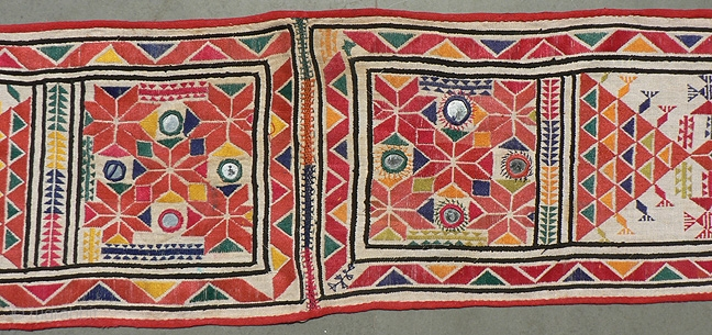 Old Indian Rajasthani Wedding Sash Embroidery From The