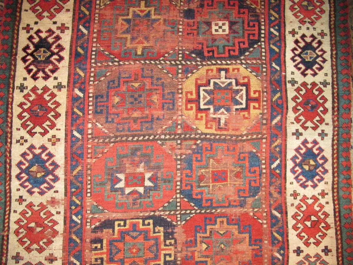 Colorful Moghan Rug With Memling Guls Detail Rugrabbit Com