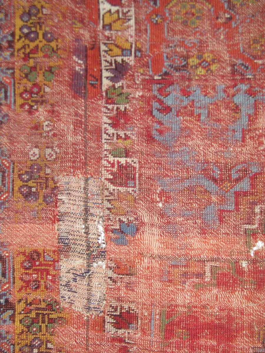 Smashed But Fantastic Anatolian Prayer Rug Mudjur