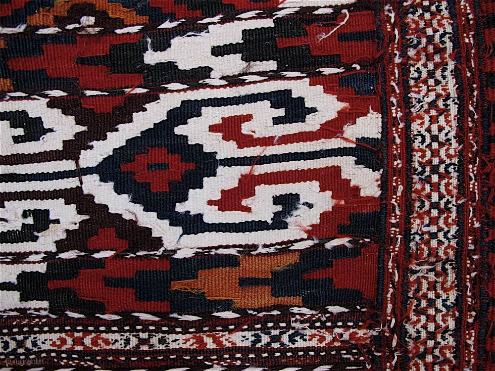 Turkmen kilim, probably Yomut. Circa 1900, perhaps early 20th C ...