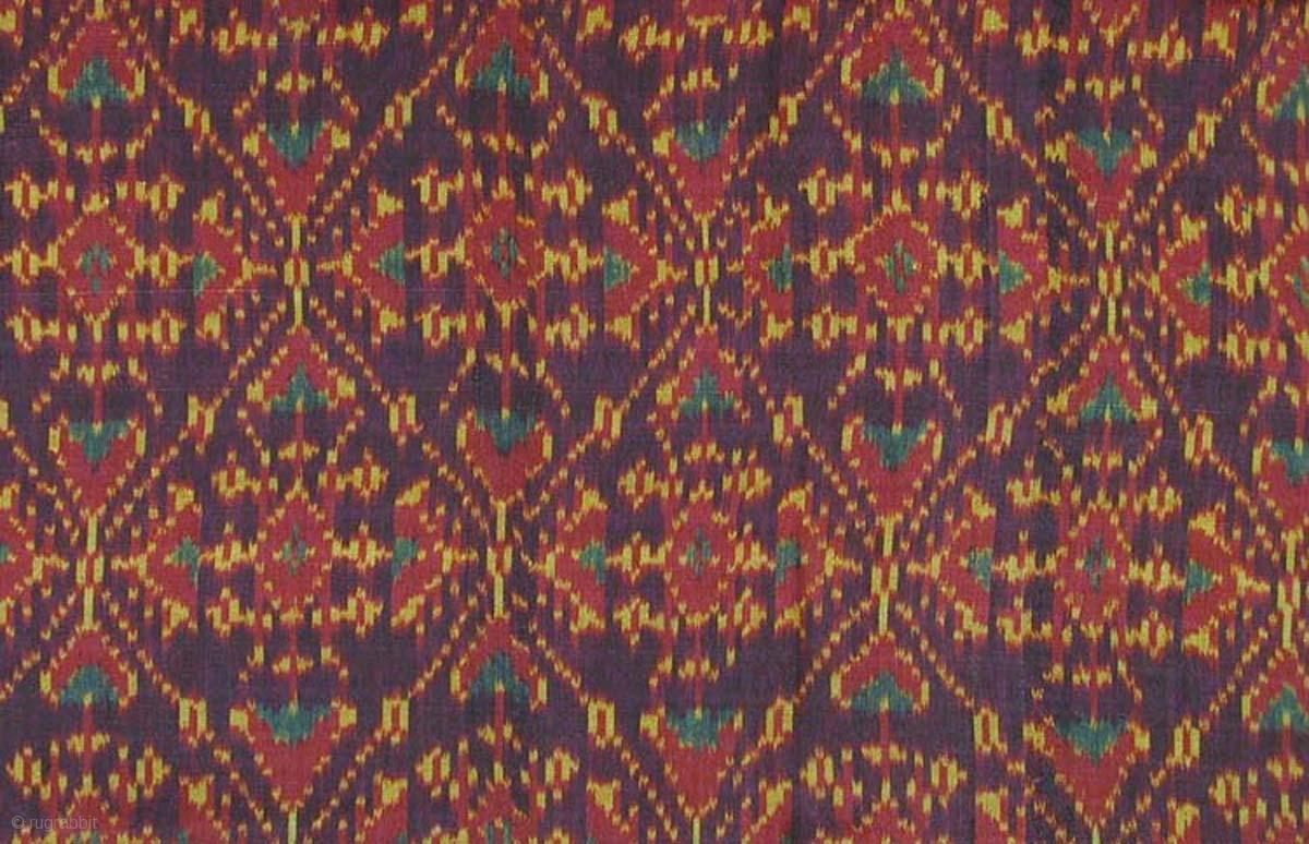 Cambodian Silk Ikat Sampot Hol Circa 1900 Excellent