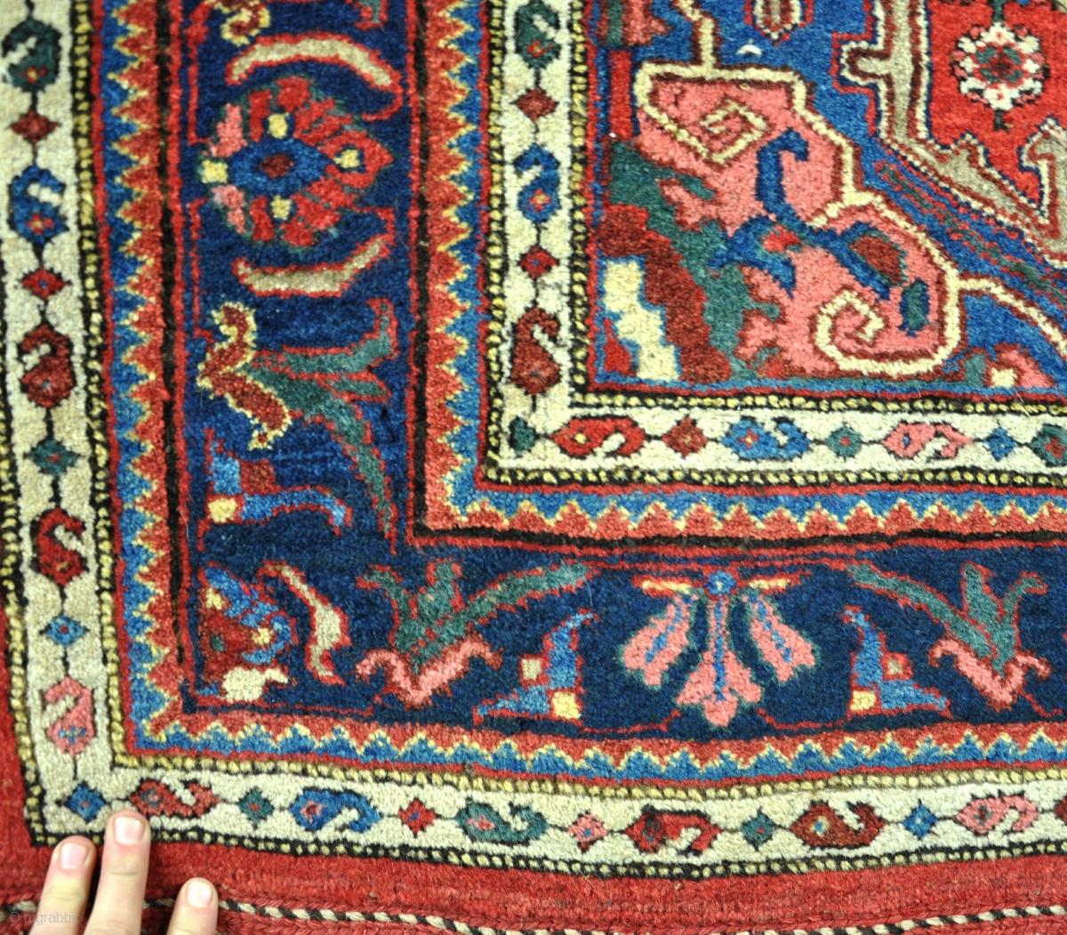 Antique Gogargene (Bijar) Rug Circa 1900. Excellent Original Condition, No  Repairs,