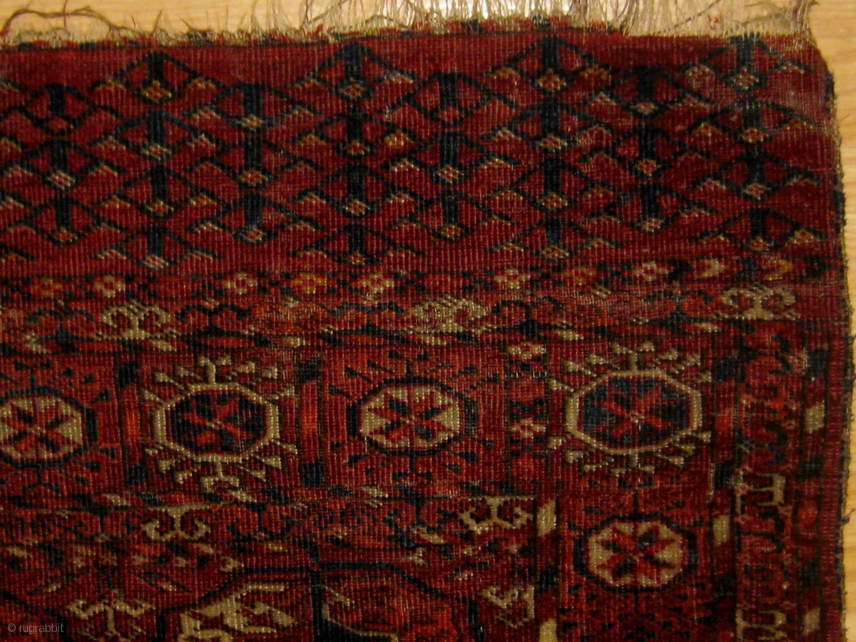 Antique Tekke Quot Dowry Rug Quot Circa 1880 Ends And Sides