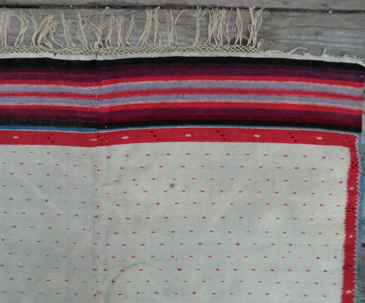 Antique Mexican Serape Wool On Linen 74 Quot By 38 Quot This Is