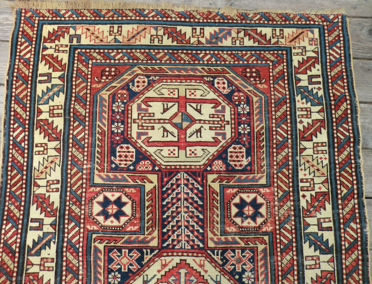 19th Century Caucasian Rug Dagestan 3 5 Ft By 5 5 Ft