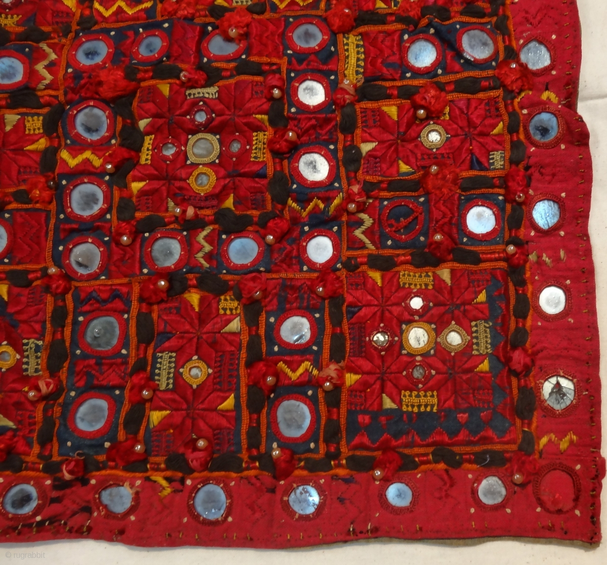 Soof Work Embroidered Square Piece From Sindh Region India