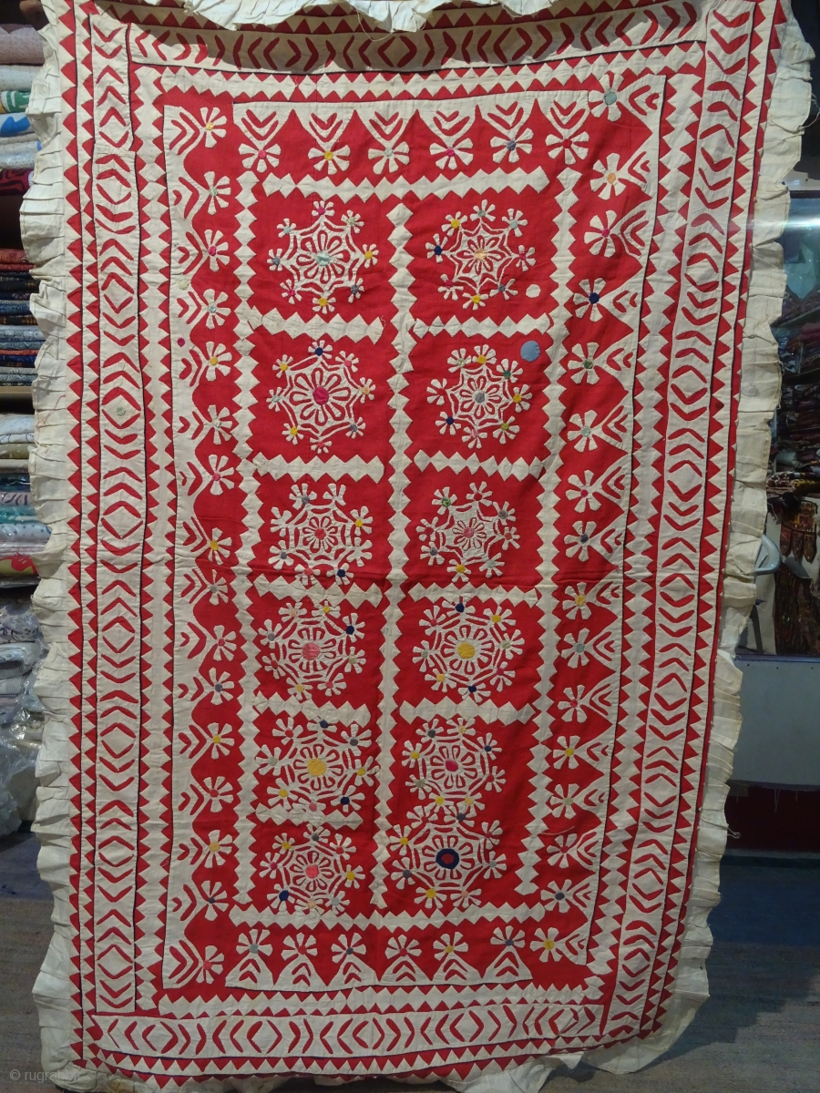 Ralli Quilts Applique Chandrwa From Rajasthan Or Gujrat