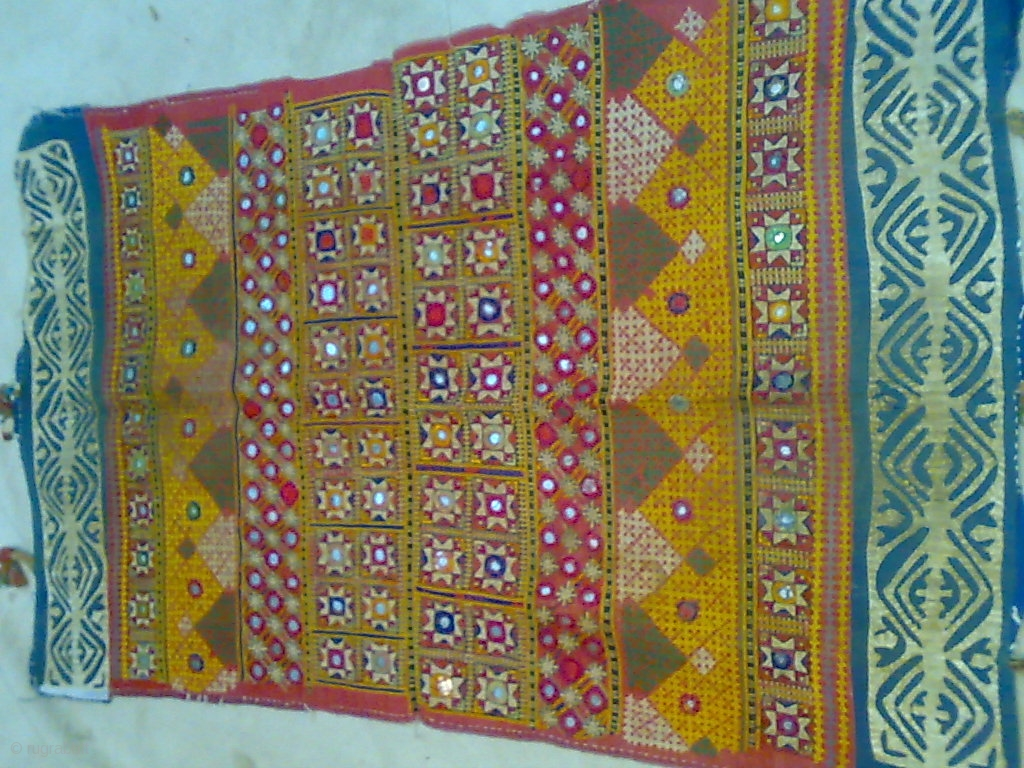 Old Piece With Fine Hand Embroidery And Applique Work On