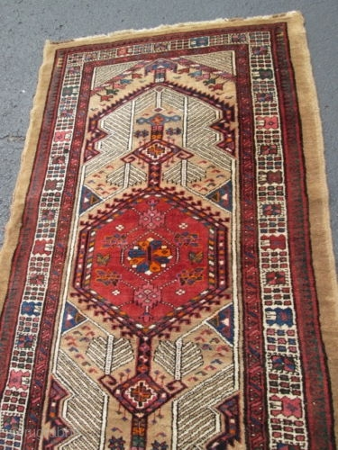 Antique Persian Serab Oriental Rug Size 3 2 X15