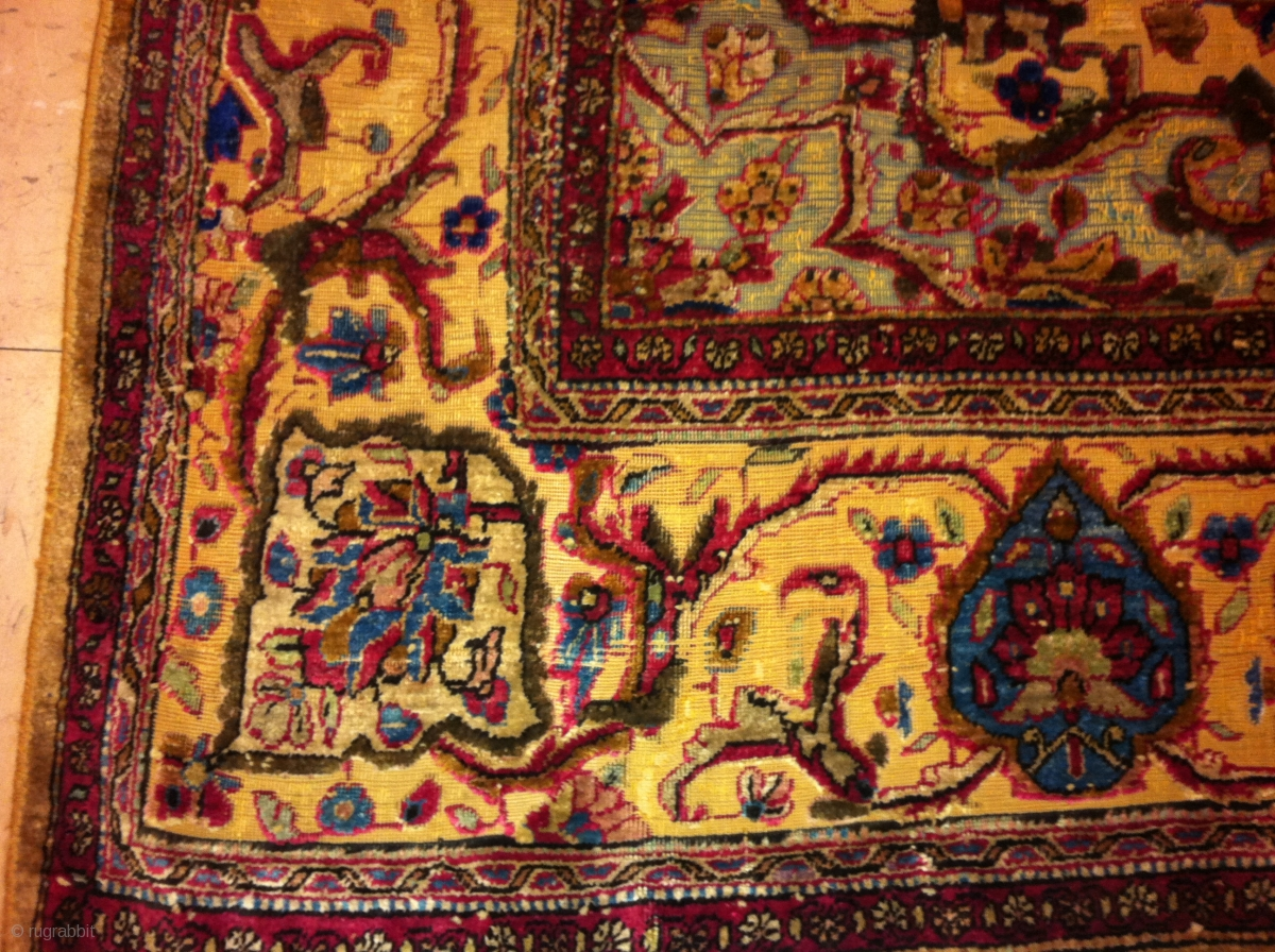 how to clean silk persian rug