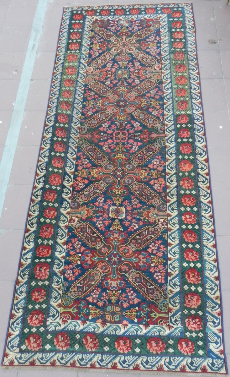 Antique Caucasian Seichur Long Rug 10 2x4 1 Ft Excellent