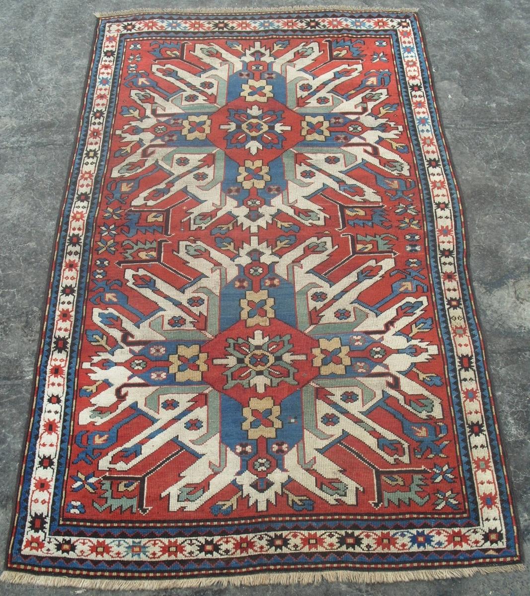 A Chelaberd Rug So Called Sunburst Or Eagle Kazak