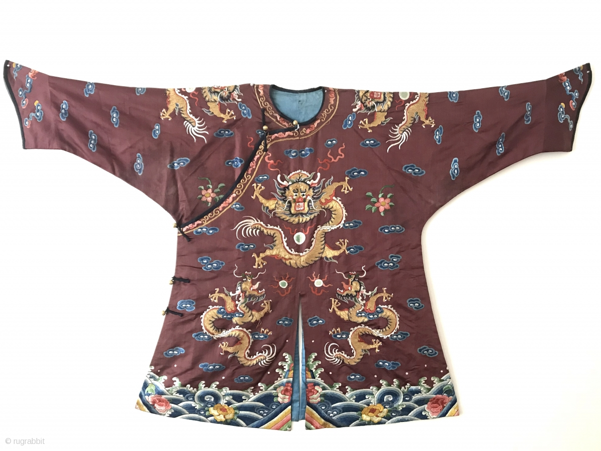 738c9855105 An exceptional and rare antique Imperial Chinese Dragon Robe made for a  child   young boy.