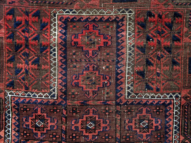 Belouch Prayer Rug From The Turn Of The 19th Century With