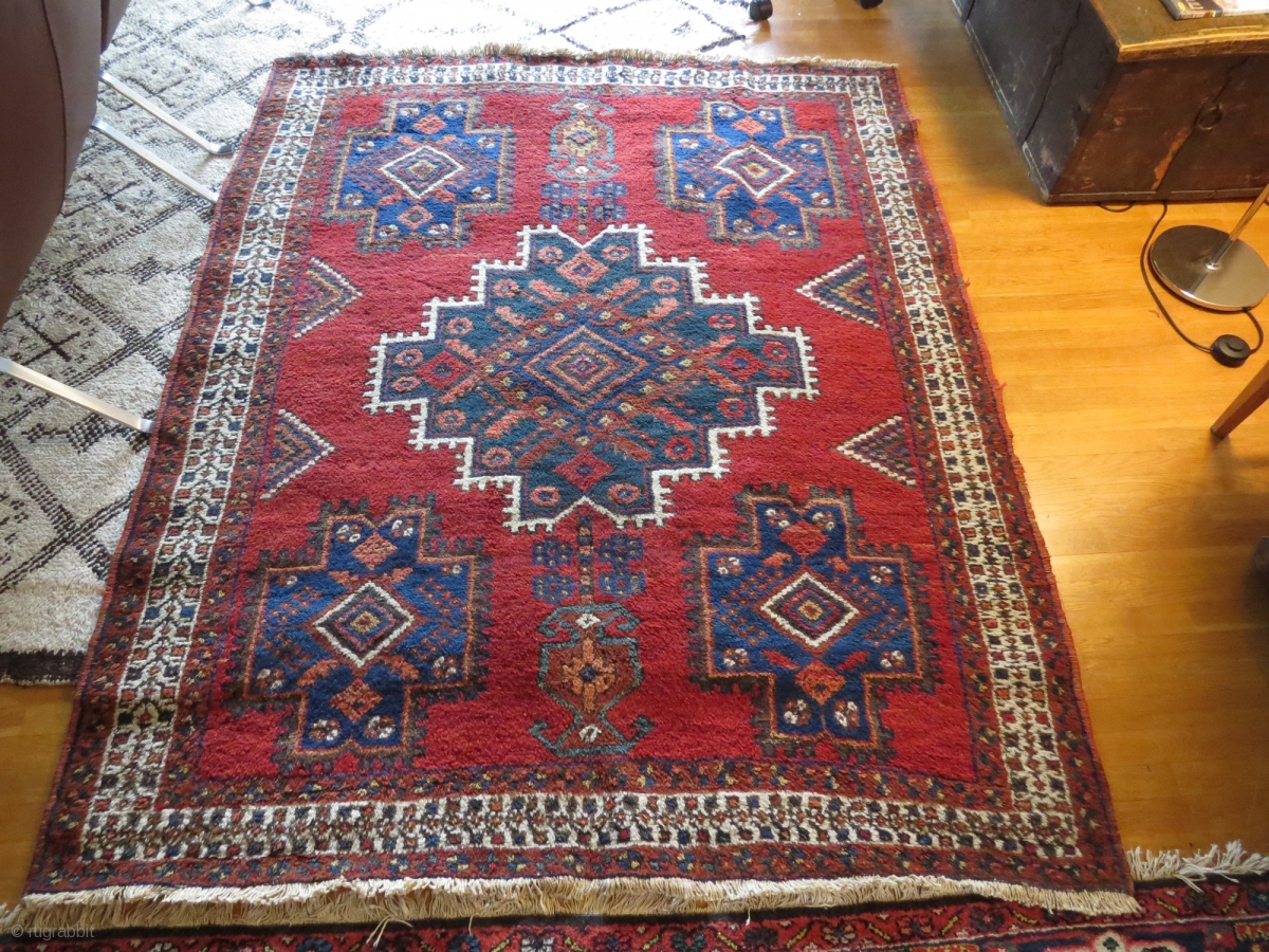 So Called Outback Afshar Early 20th C Ex Thomas Cole Rug 178x165cm