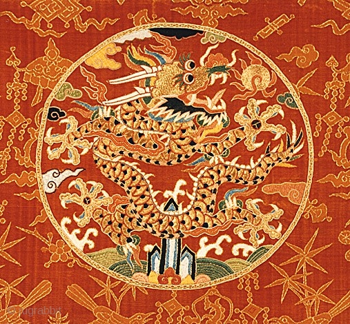 Panel From An Imperial Robe Late Ming Or Early Qing