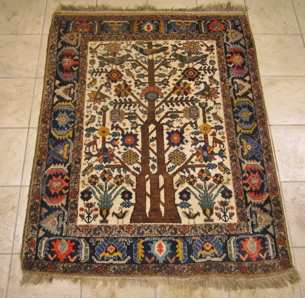 Antique Neiriz Tree Of Life Rug From Southpersia Such A Finely