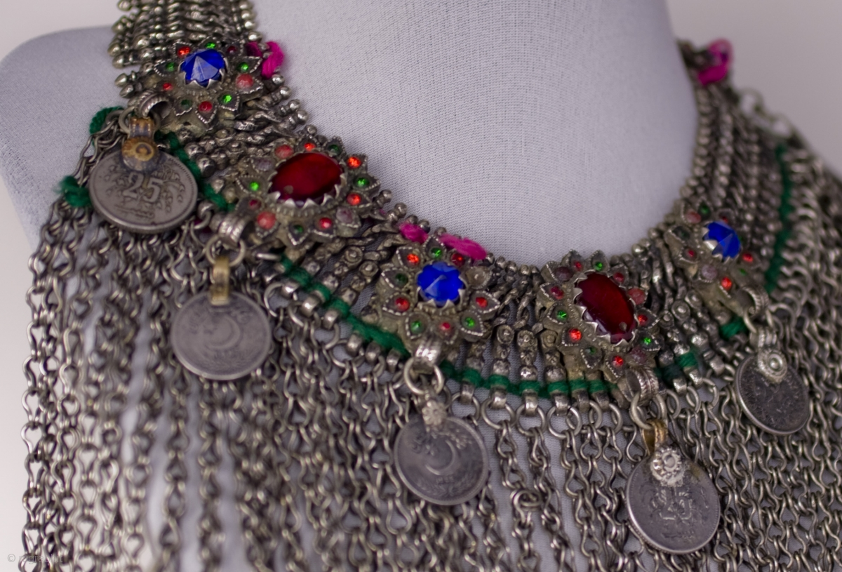 Original Traditional Pashtun Bronze And Silvered Metal
