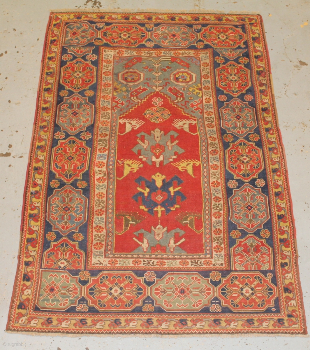 Prayer Rug Dimensions: 17th Century Transylvanian Prayer Rug ,rewoven And Old