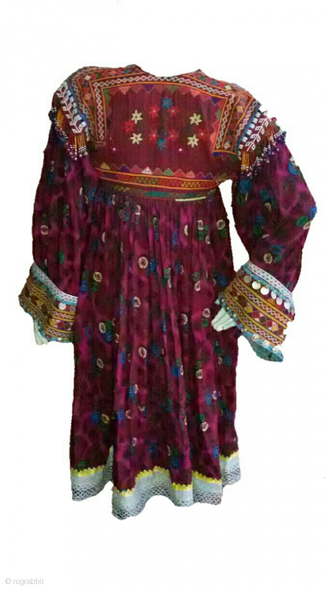 Pashtun Tribal Woman Dress From Afghanistan Complete